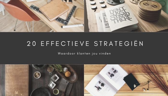 20 Effectieve Marketing Strategieën