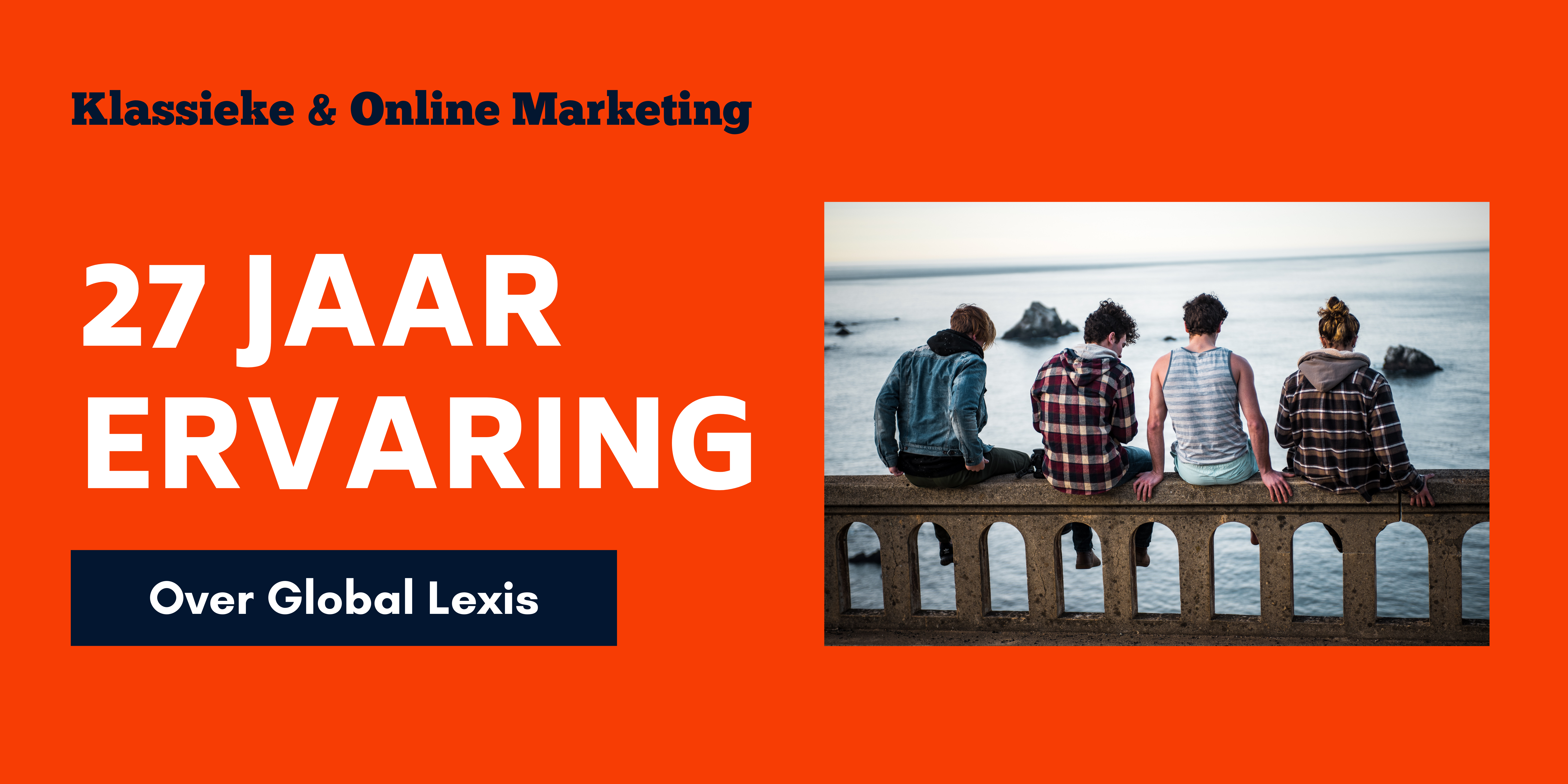 27 jaar ervaring Global Lexis Online Marketing Banner