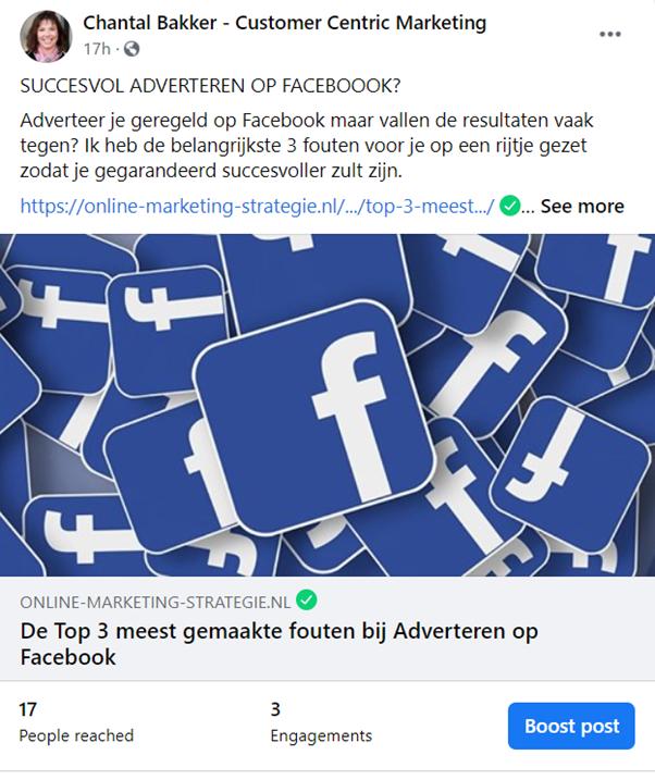 Facebook Post Boosten - GLOBAL LEXIS Customer Centric Marketing